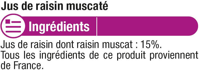 Pur jus raisin rouge muscaté - Ingrediënten