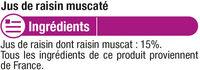 Pur jus raisin rouge muscaté - Ingrediënten - fr