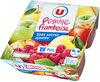 Purée de fruits aux pommes framboise sans sucres ajoutés - Produit