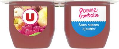 Purée de fruits parfum pommes et framboise sans sucres ajoutés - Produit - fr