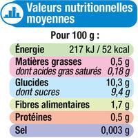 Purée de fruits parfum pommes et framboise sans sucres ajoutés - Informations nutritionnelles - fr