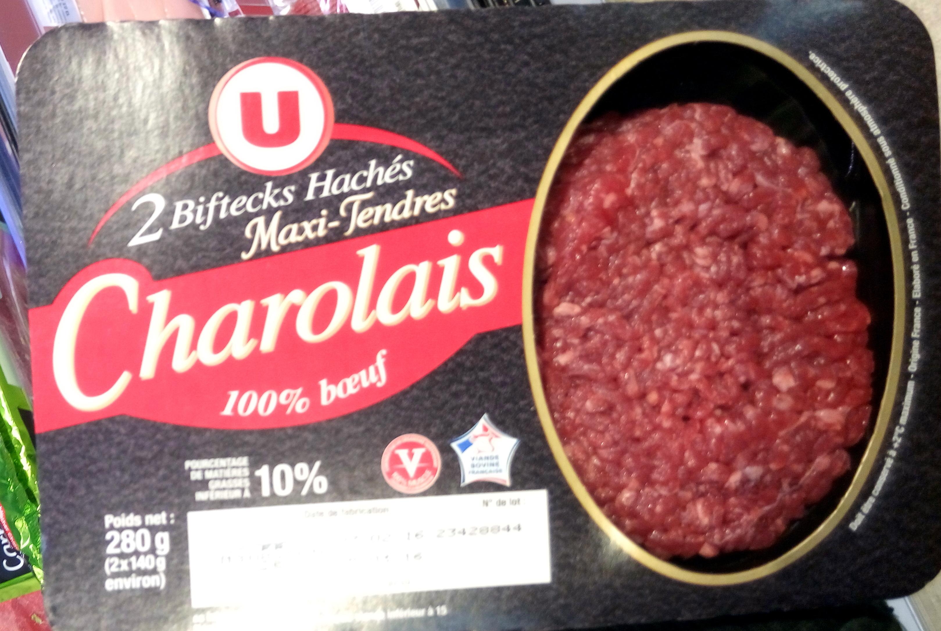 2 biftecks hachés maxi-tendres Charolais - Product