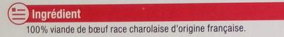 2 biftecks hachés maxi-tendres Charolais - Ingrediënten