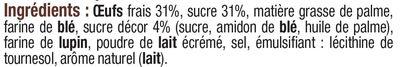 Gaufres patissières au sucre 260g - Ingrédients