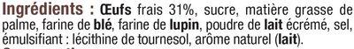 Gaufres pâtissières aux oeufs frais - Ingrédients - fr
