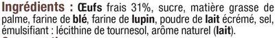 Gaufres paâissières aux oeufs frais - Ingrédients - fr
