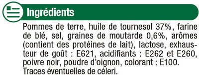 Chips à l'ancienne saveur Moutarde - Ingrédients