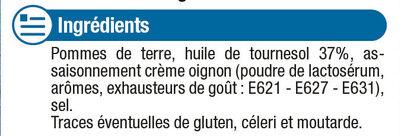 Chips à l'ancienne saveur crème et oignon - Ingrediënten - fr