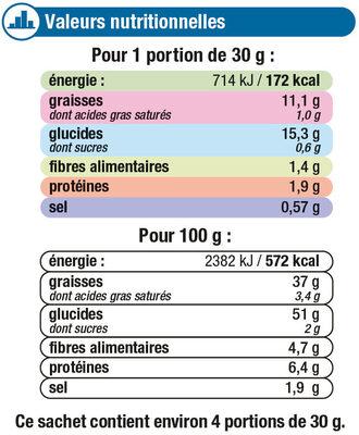 Chips à l'ancienne saveur crème et oignon - Voedigswaarden