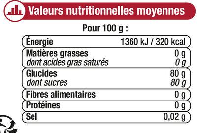 Miel de montagne corsé - Informations nutritionnelles