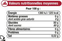 Miel de montagne corsé - Informations nutritionnelles - fr