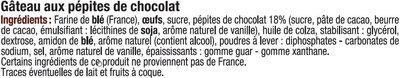 Mini gateaux pépites chocolat - Ingrediënten - fr