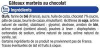 Mini gâteaux marbré chocolat - Ingrédients - fr