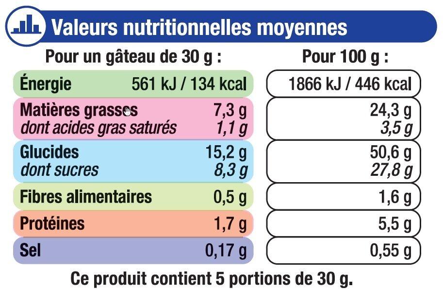 Mini gâteaux marbré chocolat - Informations nutritionnelles - fr