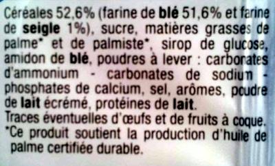 Goûters Fourrés Parfum Vanille - Ingrédients - fr