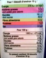 Goûters Fourrés Parfum Vanille - Informations nutritionnelles - fr