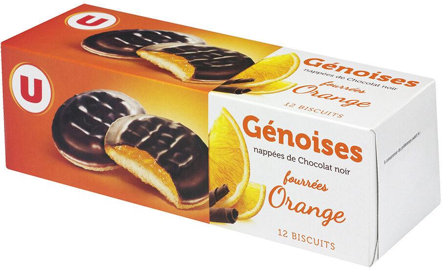 Génoises fourrées à l'orange nappées de chocolat - Produit