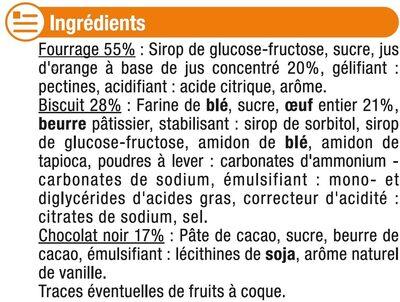 Génoises fourrées à l'orange nappées de chocolat - Ingrédients