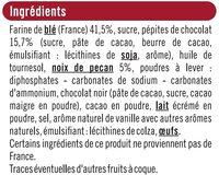 Cookies noix de pécan et pépites de chocolat - Ingredients - fr