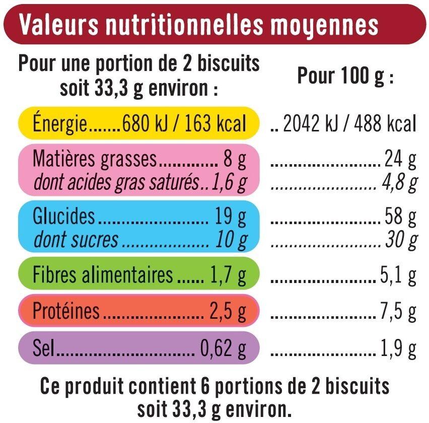 Cookies noix de pécan et pépites de chocolat - Nutrition facts - fr