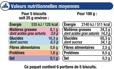Batonnets au chocolat au lait - Informations nutritionnelles - fr