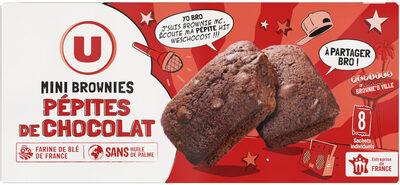 Mini brownies pépites chocolat - Produit