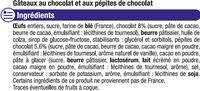 Mini brownies pépites chocolat - Ingrédients - fr
