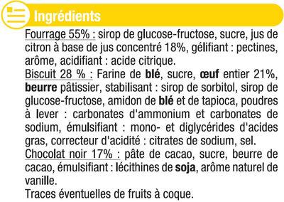 Biscuits fourrés au citron nappés de chocolat - Ingrédients
