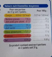 Palets bretons - Informations nutritionnelles - fr