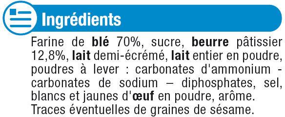 Petit Beurre - Ingrédients - fr