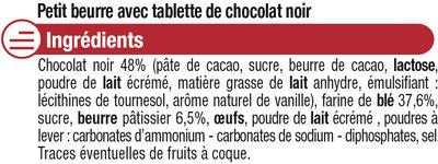 Petit Beurre Tablette Chocolat noir - Ingrédients