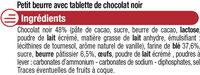 Petit Beurre Tablette Chocolat noir - Ingrédients - fr