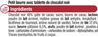 Petit Beurre Tablette Chocolat noir - Ingredients - fr