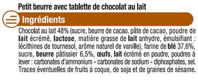 Petit Beurre Tablette Chocolat lait - Ingrédients