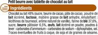 Petit Beurre Tablette Chocolat lait - Ingrediënten - fr