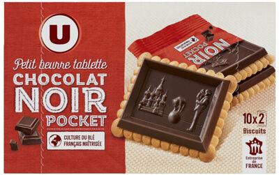 Petit beurre tablette de chocolat noir - Produit - fr