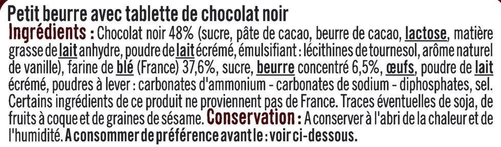 Petit beurre tablette de chocolat noir - Ingrédients - fr