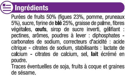 Barres moelleuses fourrées à la figues et pruneaux - Ingrédients
