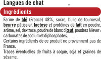 Langue de chat - Ingredienti - fr