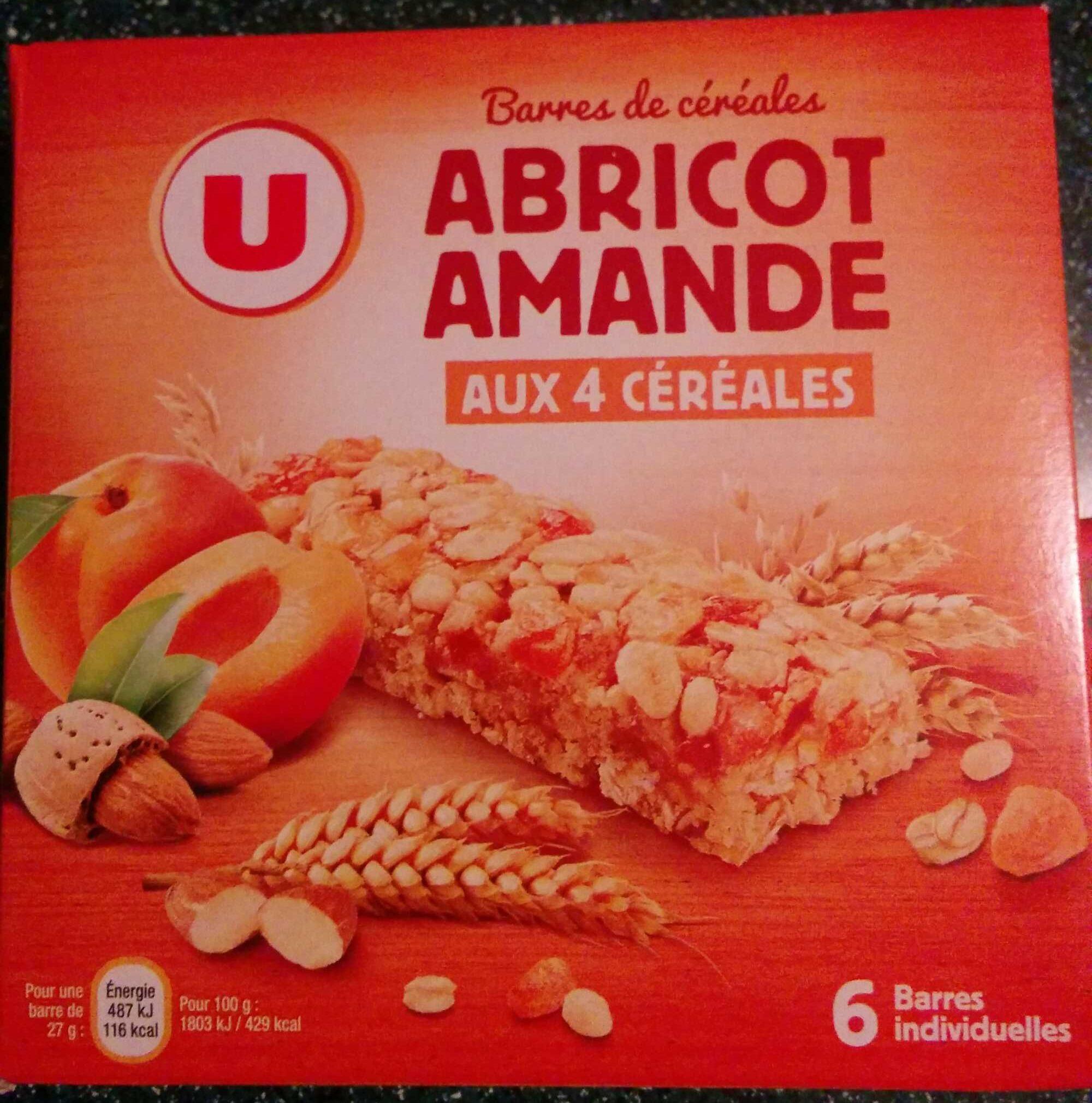 Barre de céréales abricot amande aux 4 céréales - Product
