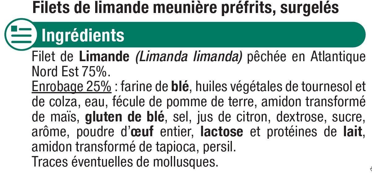Filets de limande meunière - Ingredients