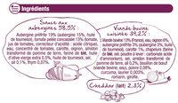 Moussaka - Ingredients - fr
