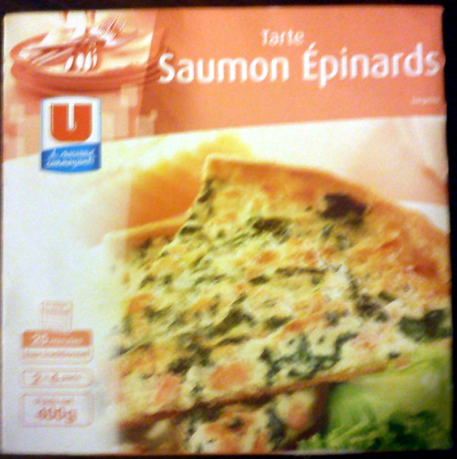 Tarte saumon épinards - Product