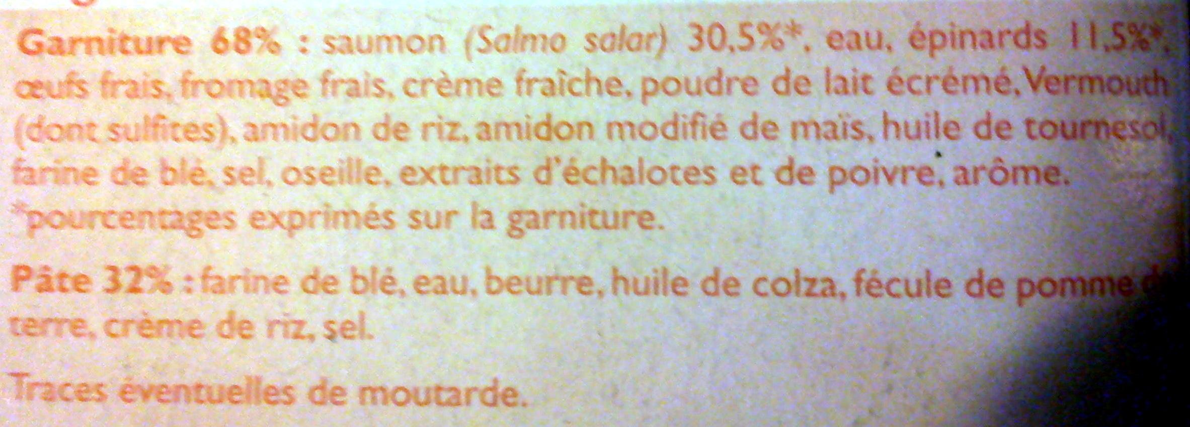 Tarte saumon épinards - Ingrediënten