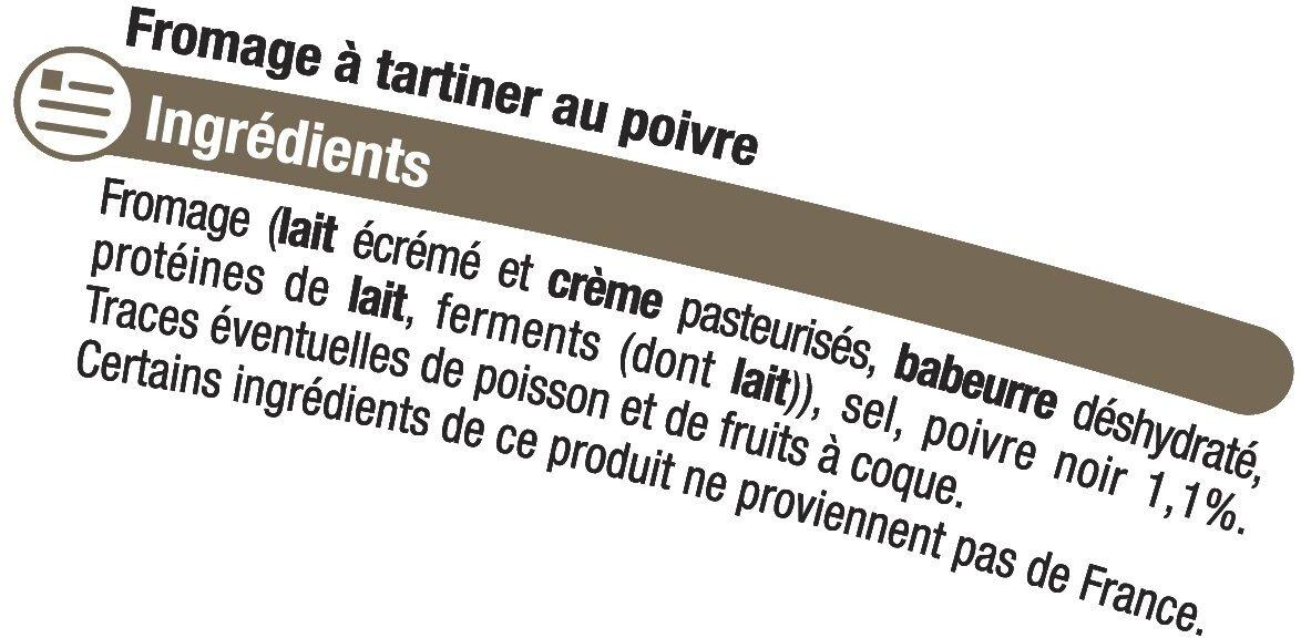 Fromage au poivre au lait pasteurisé 24%MG - Ingredients