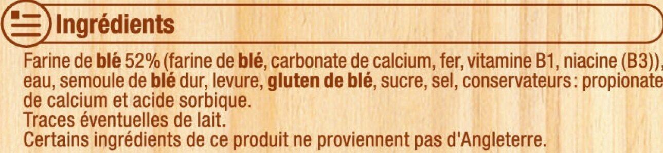 Muffins nature - Ingredients - fr