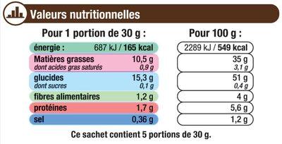 Chips ondulée - Valori nutrizionali - fr