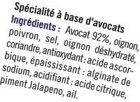 Guacamole purée d'avocat - Ingredients