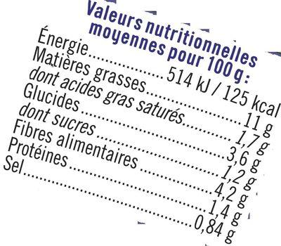 Guacamole purée d'avocat - Nutrition facts