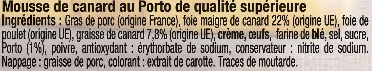 Mousse de Canard au Porto - Ingrédients